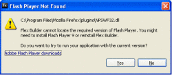 Firefox Flash Player error