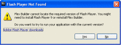 Internet Explorer Flash Player error